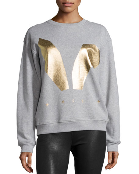 McQ Alexander McQueen Classic Logo Sweatshirt, Gray Melange
