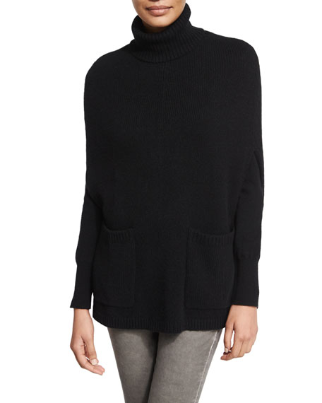 Cashmere Cape Sweater, Black