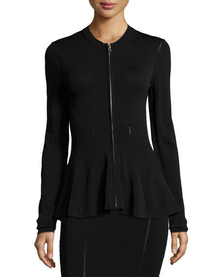 McQ Alexander McQueen Ergonomic Zip-Front Flash Jacket, Black