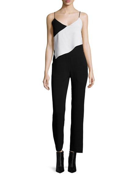 McQ Alexander McQueen Scarf Colorblock Jumpsuit, Black