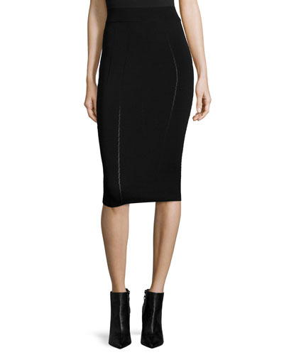 Ergonomic Fashion Pencil Skirt, Black