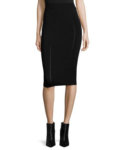 mcq mcqueen ergonomic fashion pencil skirt black