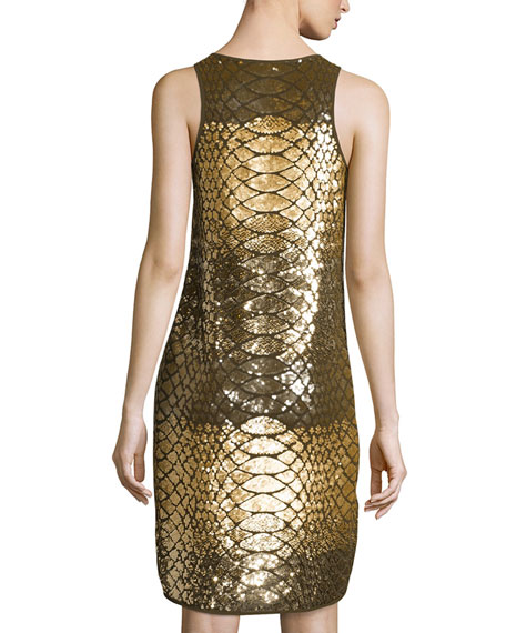 Scale Sequined Tank Dress