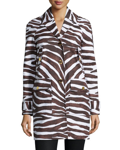 Safari-Print Cocoon Coat