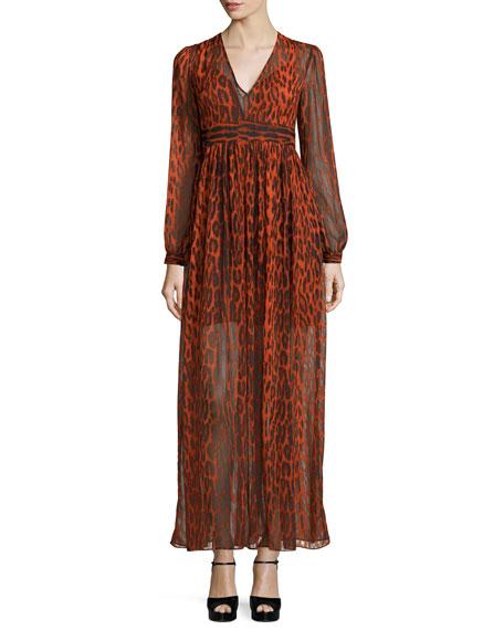 MICHAEL Michael Kors High Woods Animal-Print Maxi Dress