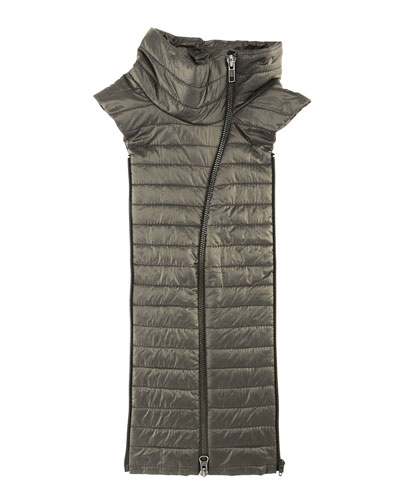 Quilted Funnel-Neck Dickey, Army