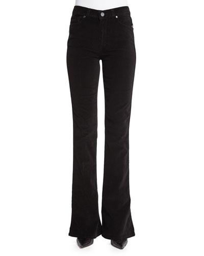 Lou Lou Flare-Leg Jeans, Black