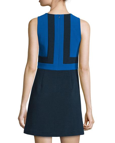 Sleeveless Colorblock Mini Dress, New Navy