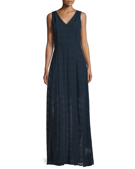 MICHAEL Michael Kors Sleeveless A-Line Maxi Dress, New Navy