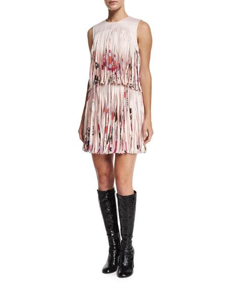 Alexis Eleanor Printed Fringe Dress, Botanica
