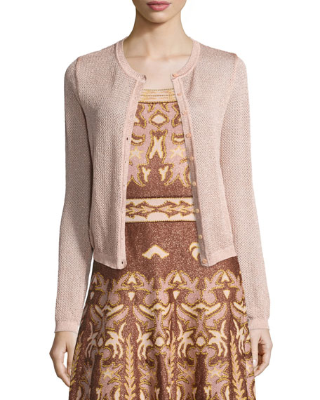 M Missoni Lurex® Star-Stitch Cardigan