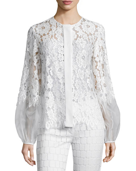 2f59f0fb86 Sue Long-Sleeve Lace Blouse, White