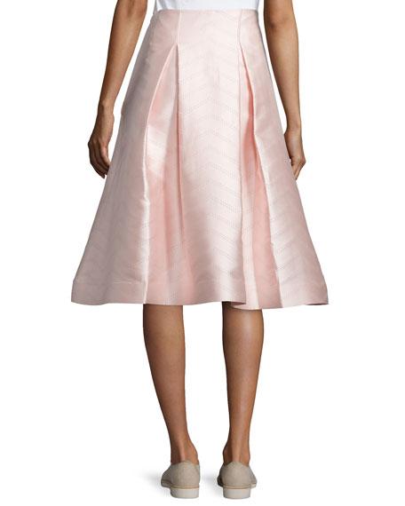 Paola A-Line Midi Skirt, Light Pink