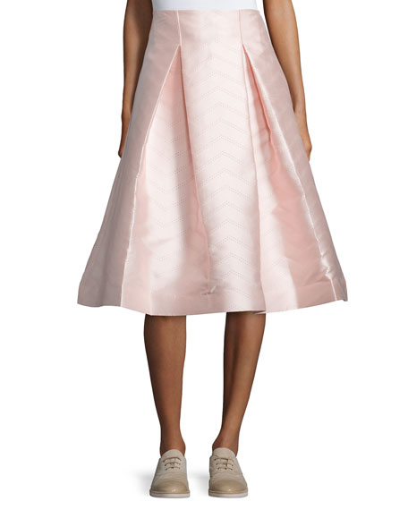 Paola A-Line Midi Skirt, Light Pink