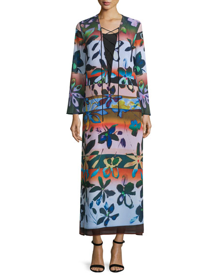 Clover Canyon Long-Sleeve Riviera Sunrise Maxi Dress, Multicolor
