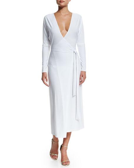 Dolman Front Back Coverup Wrap Dress