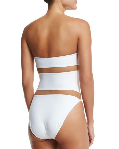 Bishop Nude-Insert One-Piece Swimsuit, White