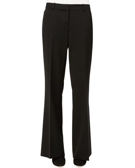 Lafayette 148 New York Beekman Wide-Leg Pants, Black