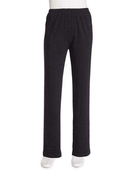Caroline Rose Straight-Leg Pants, Black, Petite