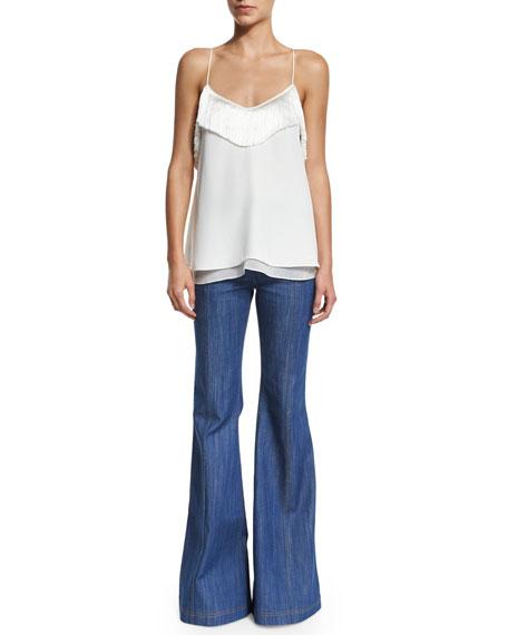 High-Waist Flare Jeans, Pale Indigo
