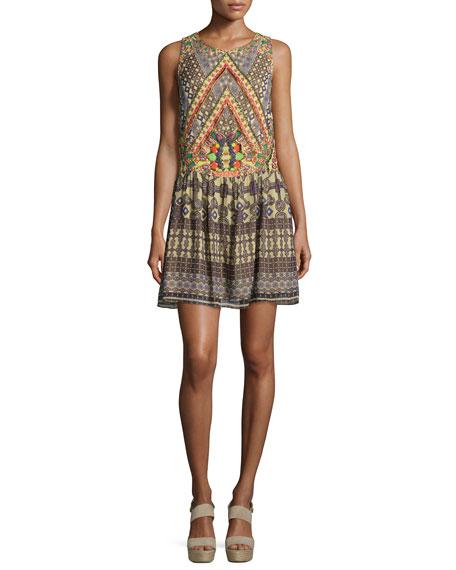 Hemant and Nandita Sleeveless Round-Neck Dress, Multi Colors
