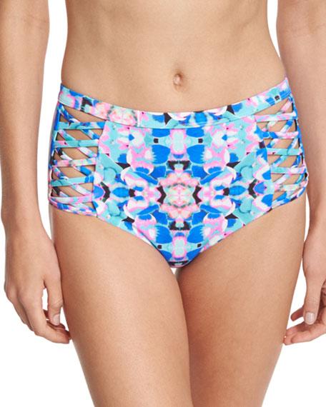 Bella Reversible Printed High Swim Bottom