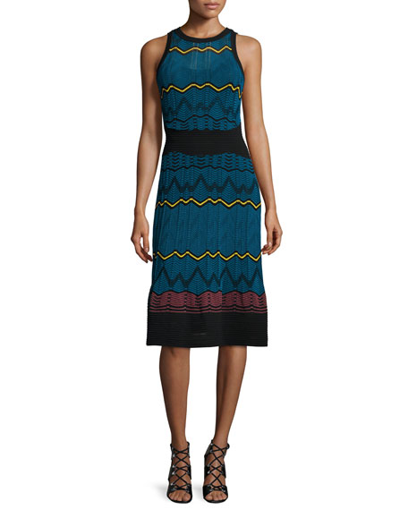 M Missoni Frequency Zigzag Sleeveless Dress