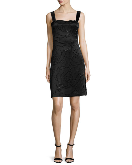 Diane von Furstenberg Lovelle Floral-Embroidered Sheath Dress,