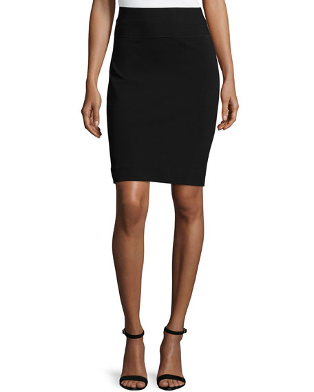 Diane von Furstenberg Elsa Woven Pencil Skirt, Black