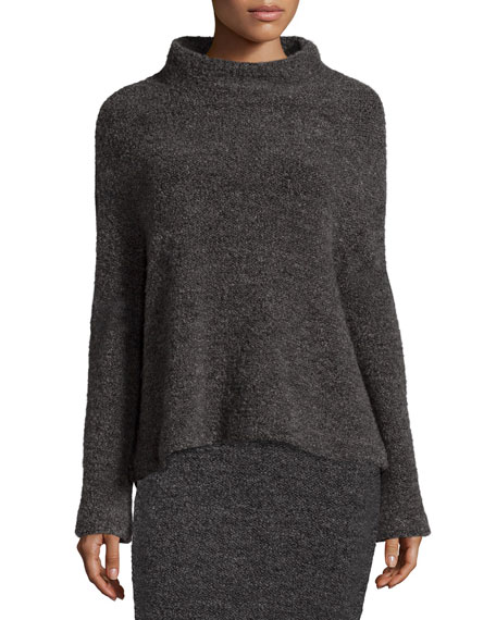 Elizabeth and James Kirk Funnel-Neck Sweater, Gray