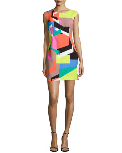 Milly Graphic-Print Modern Dress