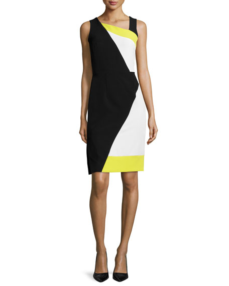 Milly Sleeveless Colorblock Sheath Dress