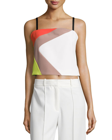 Milly Cropped Cady Colorblock Tank