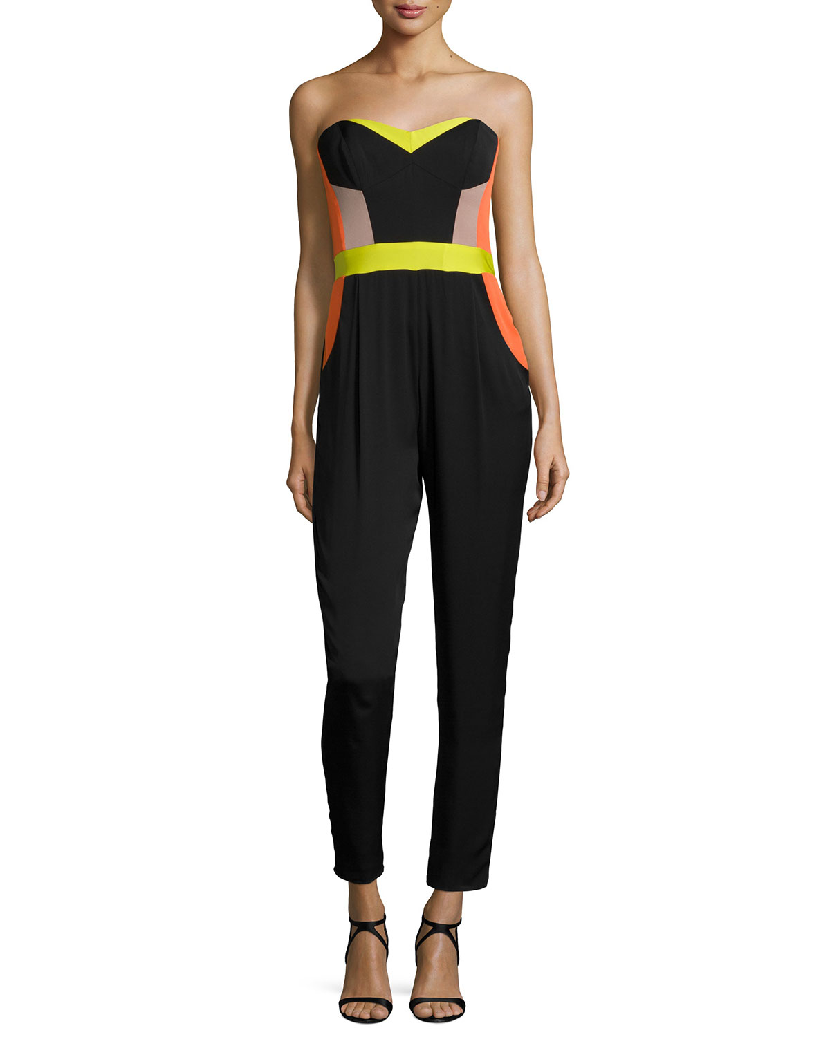 6483084f904b Milly Strapless Bustier Colorblock Jumpsuit