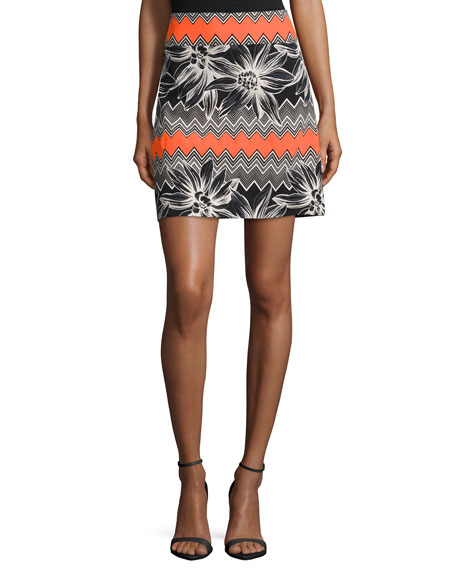 Milly Tropical A-line Skirt