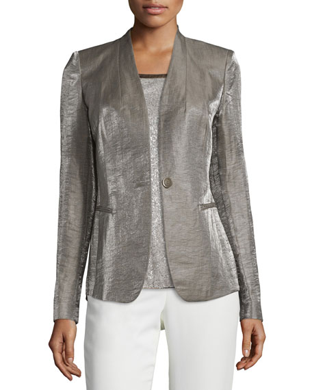 Lafayette 148 New York Clary One-Button Jacket