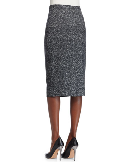 Seamed Pencil Skirt, Slate