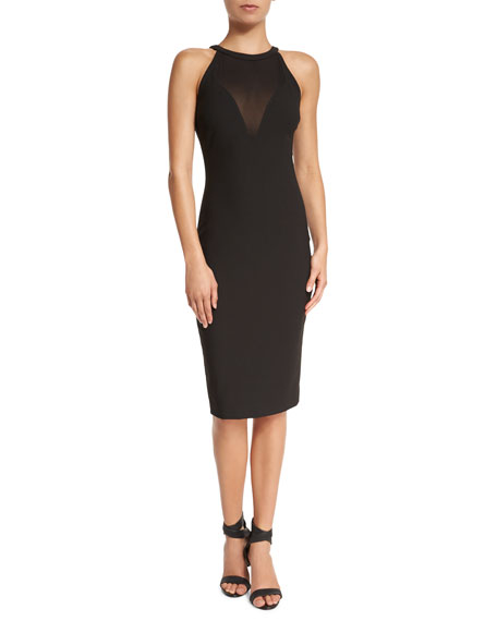 Elizabeth and James Karina Sleeveless Fitted Dress, Black