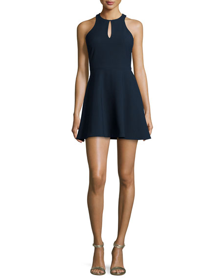 Elizabeth and James Scout Fit-&-Flare Dress, French Navy