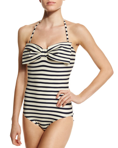 kate spade new york nahant shore striped one-piece swimsuit