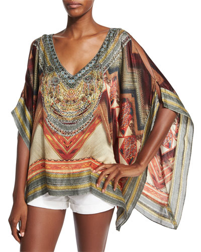 Cloaking Humanity Embellished Top, Multi Colors