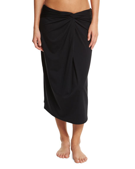 Michael Kors Front-Twist Coverup Skirt