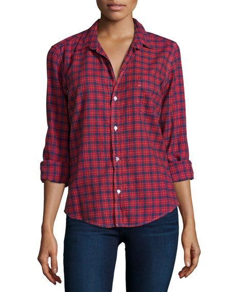 Barry Plaid Long-Sleeve Shirt, Red