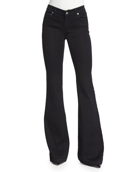 MICHAEL Michael Kors Retro Flare Jeans, Black
