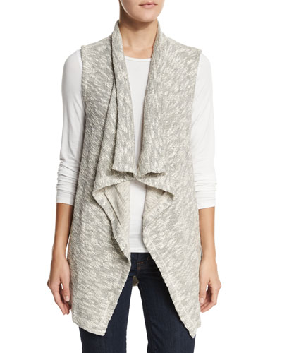 Chalet Mixed-Media Vest, Natural