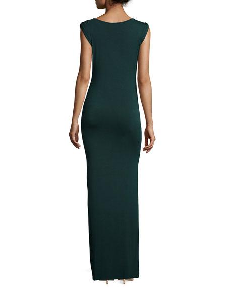 Bryton Twist-Front Maxi Dress, Hunter