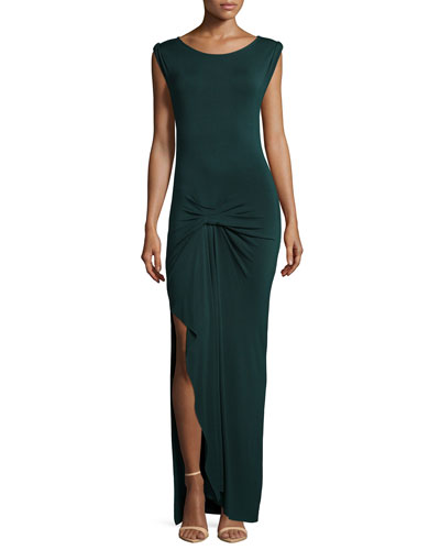 Bryton Twist-Front Maxi Dress, Hunter