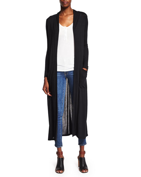 FRAME Le Duster Long-Sleeve Cardigan, Le Henley Scoop-Neck Tank ...