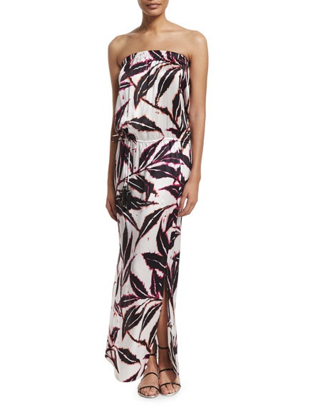 Marie France Van Damme Printed Sleeveless Maxi Dress