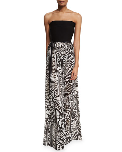 Printed Long Jersey Maxi Dress/Skirt Coverup